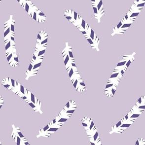 Feathers - Plum/Lavender by Andrea Lauren