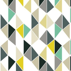 Triangles (yellow blue and gray)