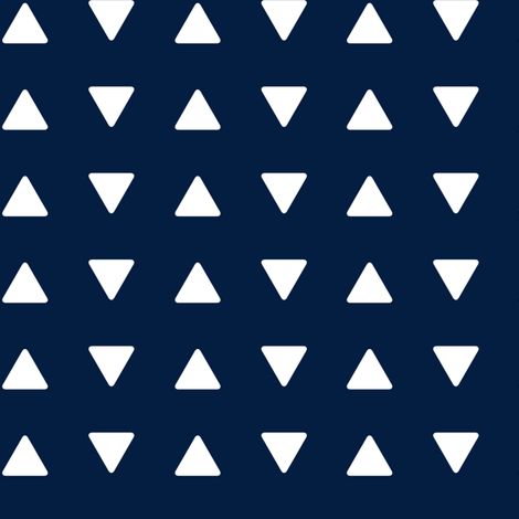 Triangles // navy fabric by littlearrowdesign on Spoonflower - custom fabric