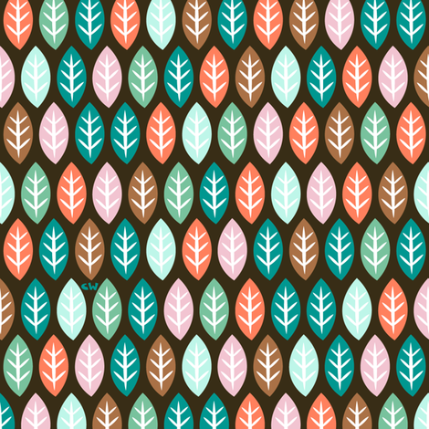 Glowing Leaves & Little Trees fabric by studio_amelie on Spoonflower - custom fabric