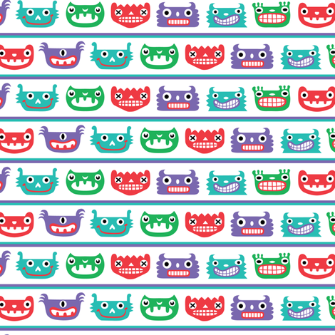 Monster Mood fabric by andibird on Spoonflower - custom fabric