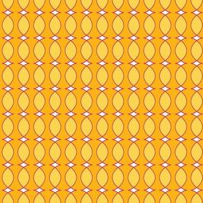 yellow orange fuchsia abstract stripe