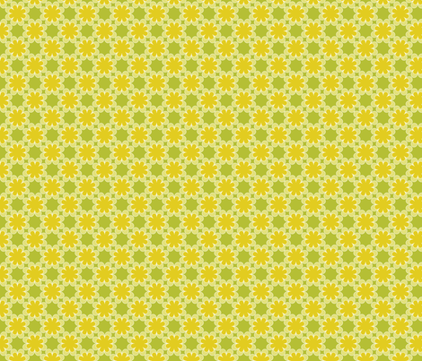 lime and puke floral fabric by hlozik on Spoonflower - custom fabric