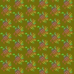 Walking Fish Neon Multicolored