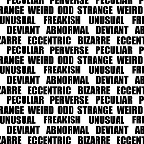 Odd - Synonyms - Inverted