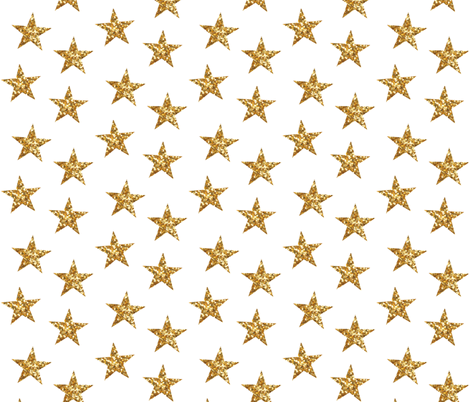 Sparkling Stars in Gold fabric by willowlanetextiles on Spoonflower - custom fabric