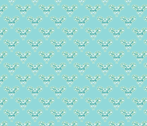 Friendly flies fabric by designed_by_debby on Spoonflower - custom fabric