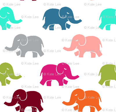 colorful elephants large