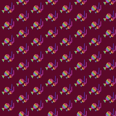 Rainbow Gone Fishing fabric by eve_catt_art on Spoonflower - custom fabric