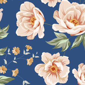 Floral tile pattern for vintage design