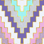 Luxe Chevron in Violet and Aqua
