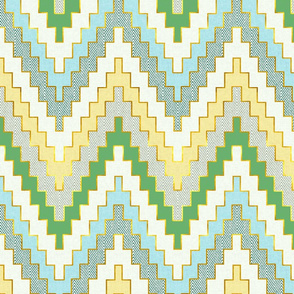 Luxe Chevron in Spring Lawn