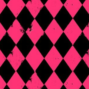 Black and Pink Harlequin Diamond