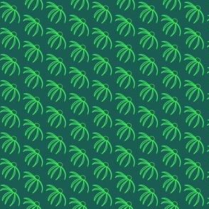 Coneflower Green on Green