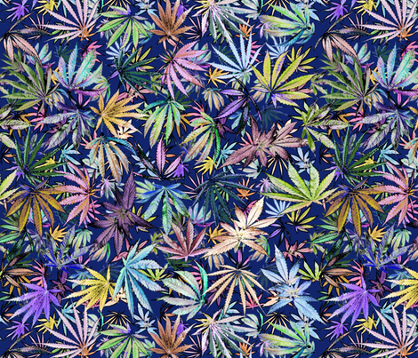 Sativa Indica Pastels fabric by camomoto on Spoonflower - custom fabric