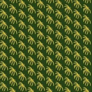 Coneflower Yellow on Green