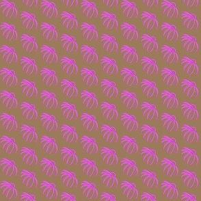Coneflower Pink on Brown