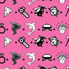 Sharks and Tornados Polka Dot Pink