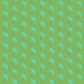 Coneflower Aqua on Green
