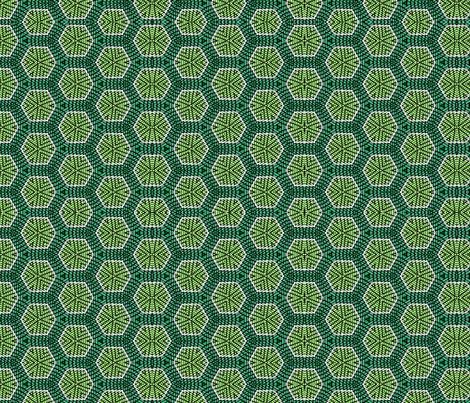 Green Honeycomb fabric by charldia on Spoonflower - custom fabric