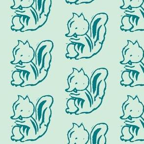 Cheeky Squirrel (Sea Foam Green)