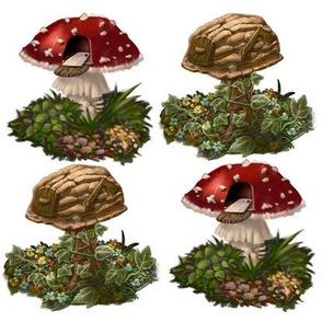 Mushroom/Nutshell Mailbox