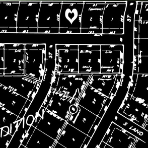Neighborhood Plat Map in Black