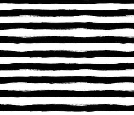 black paint stripes fabric by rachelelise on spoonflower custom fabric