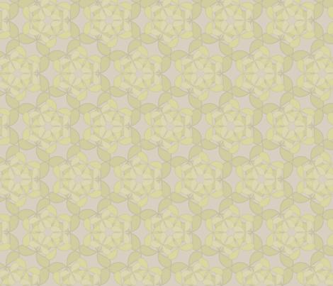 flutterpetals_mustard fabric by glimmericks on Spoonflower - custom fabric