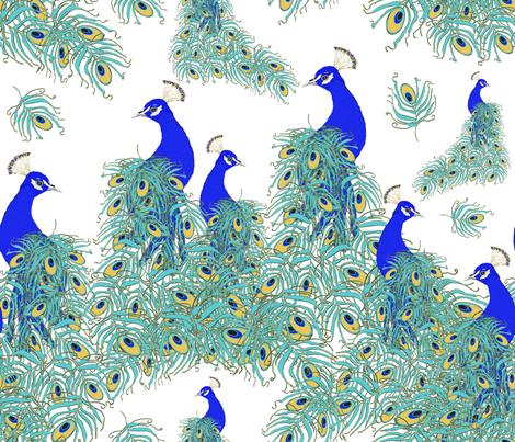 PEACOCKS fabric by bluevelvet on Spoonflower - custom fabric