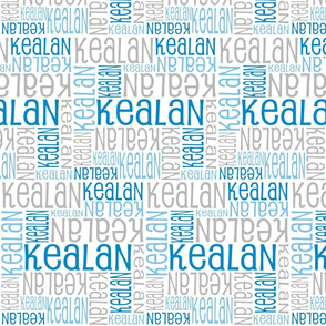 Personalised Name Design - Blues and Grey