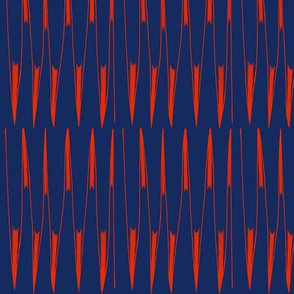 Red Spikes on Blue