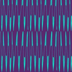 Aqua Spikes on Blue