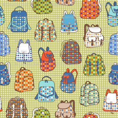 polka dot backpacks