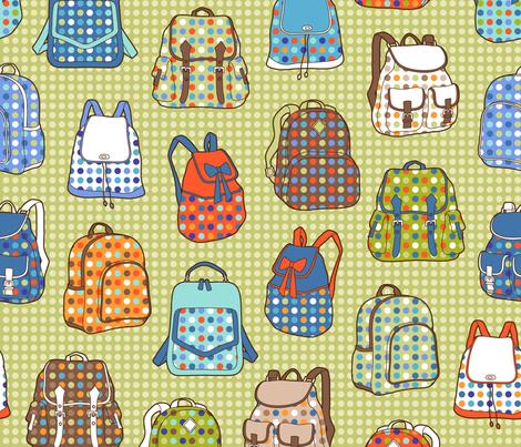 polka dot backpacks fabric by catalinakim on Spoonflower - custom fabric