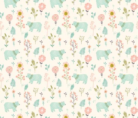Garden Bears fabric by bethan_janine on Spoonflower - custom fabric
