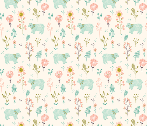 Garden Bears fabric by bethan_janine on Spoonflower - custom fabric