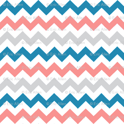 Teal__gray__coral_chevrons_pattern_preview