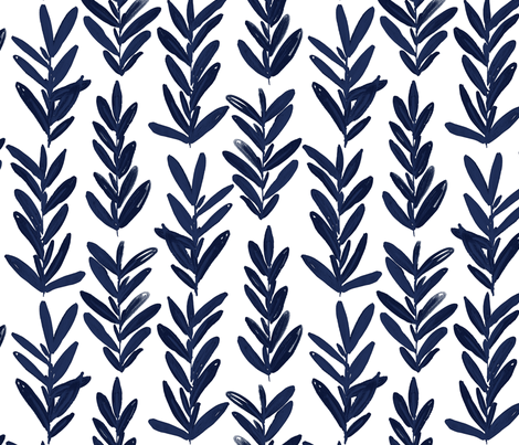 sage indigo fabric by jillbyers on Spoonflower - custom fabric