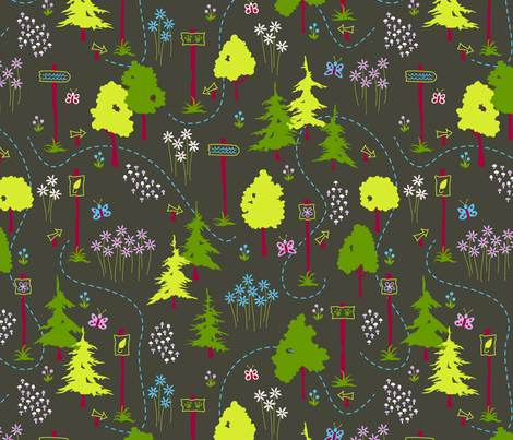 Woodland Trails (contest colors) fabric by brendazapotosky on Spoonflower - custom fabric