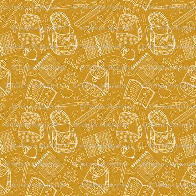 School orange pattern