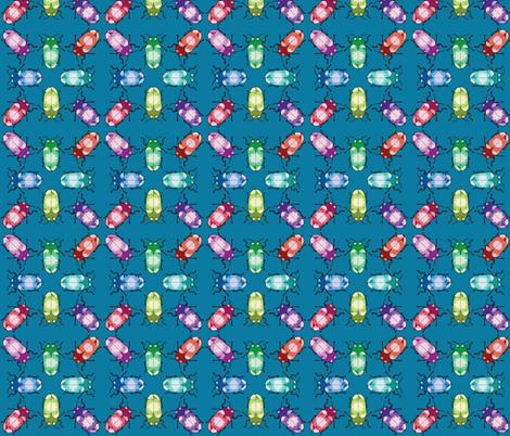 Crystal Gem Jewel Beetles fabric by roszilla on Spoonflower - custom fabric