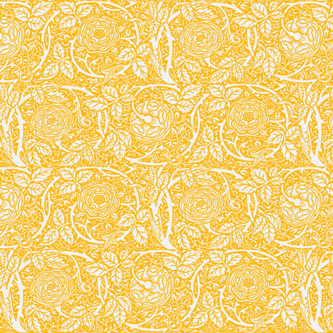Gold Summer Roses fabric by amyvail on Spoonflower - custom fabric