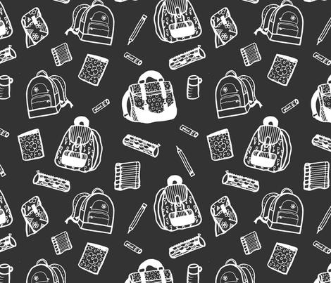 Back to School Backpacks fabric by radianthomestudio on Spoonflower - custom fabric