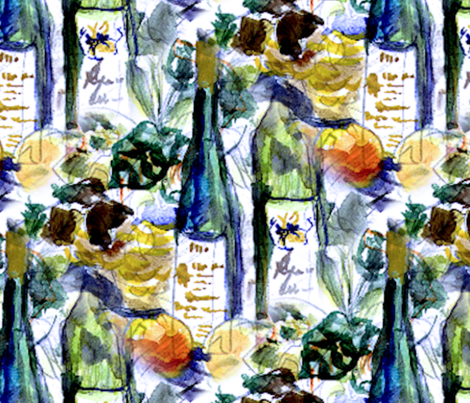 Wine Table fabric by annieleon on Spoonflower - custom fabric