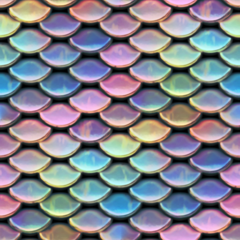 Scales ~ Mermaid fabric by peacoquettedesigns on Spoonflower - custom fabric