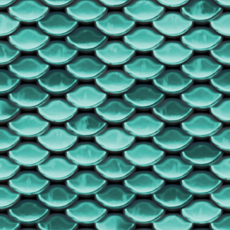 Scales ~ Littlest Mermaid fabric by peacoquettedesigns on Spoonflower - custom fabric
