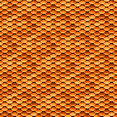 Scales ~ Goldfish fabric by peacoquettedesigns on Spoonflower - custom fabric