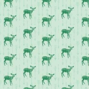 Deers and Arrows, Green