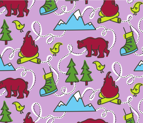 Hiking Pattern fabric by stephloren on Spoonflower - custom fabric
